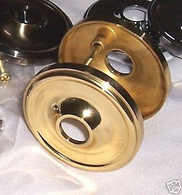 Solid Brass Retrofit BackplateRosette: For New or Antique DoorKnobs-Fit any Door