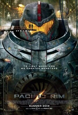 "PACIFIC RIM 2013 Original Version A DS 2 Sided 27x40"" US Movie Poster C Hunnam"