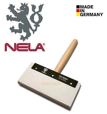 "NELA 9"" (229mm) Wood Grip Plasterers Felt Water Skimming Plaster Wall Big Brush"