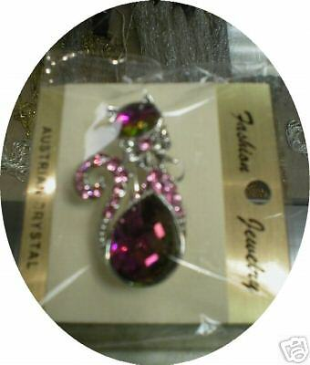 China Crystal Cute Cat Brooch/Pin 68-97016