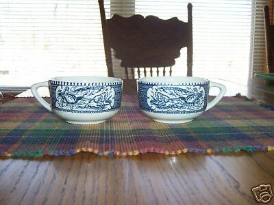 2pc Royal China Currier & Ives cup