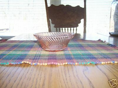 """Federal depression glass Diana pink cereal bowl 5"""" nice"""