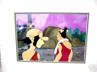 Foozy/umpa (Alley Oop) Filmation Cel Double Matted #1