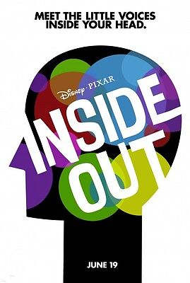 Disney's Pixar INSIDE OUT 2015 Advance Teaser DS 2 Sided 27x40 Movie Posters