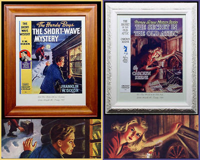 """**Closeout*** Nancy Drew or  Hardy Boys Book Cover Reproduction Framed 11x14"""""""