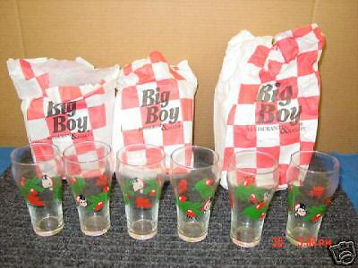 Old,Unused,6,Big Boy,Holiday,Glasses,Food,Drink,Xmas