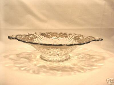 Sterling Silver Overlay Cambridge Caprice Glass Bowl