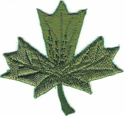 Green Maple Leaf embroidery Fall Leaves Patch