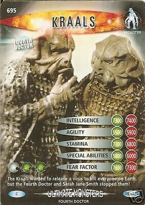 Dr Who Ultimate Monsters Card 695 Kraals