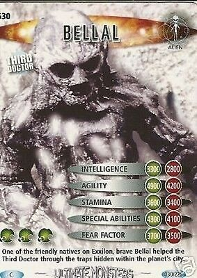 Dr Who Ultimate Monsters Card 630 Bellal