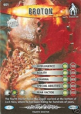 Dr Who Ultimate Monsters Card 601 Broton
