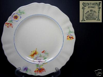 BEAUTIFUL J & G MEAKIN SUNSHINE DINNER PLATE {3} 391413