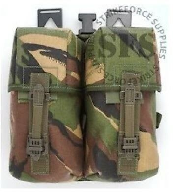 NEW - Genuine Army Issue PLCE Woodland Camo DPM Double Ammunition Pouch