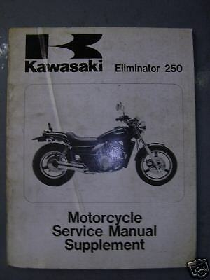 *kawasaki Service Manual Supplement For El250