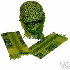 NEW! Green and Black Army Style Shemagh Scarf