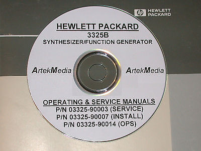 HP 3325B OPERATING, INSTALL & SERVICE MANUALS 3-Volumes / Good Schematics