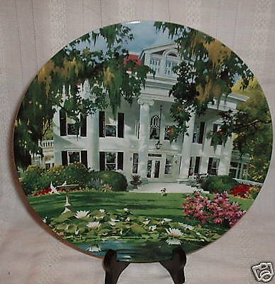 McGinnis THE GREEK REVIVAL 2nd Home Sweet Home Porcelain Collector Plate
