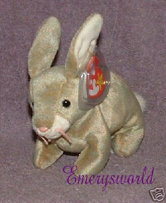 TY Beanie Babies Nibbly the rabbit Retired