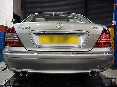 Custom Built Mercedes S320 Dual Exit Exhaust Stainless Steel UK