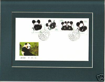 Giant Pandas 1st Day Cover Four China Panda Stamps