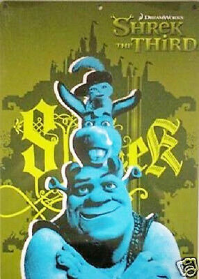 Shrek The Third 9x12 Metal Tin Sign w/Donkey & Puss In Boots/Dreamworks