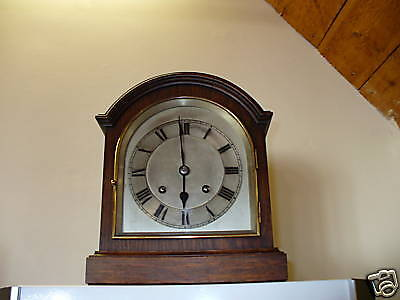 Antique German Wooden Mantel Clock.  Used