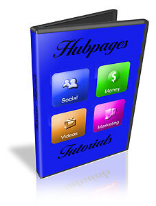 Hubpages  Video Tutorials on CD