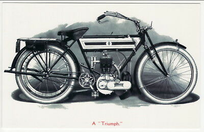 Postcard of TRIUMPH MOTORCYCLE