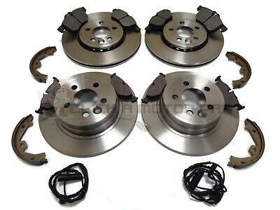 Rover 75 Front & Rear Brake Discs And Pads Handbrake Shoes & Wire Sensors New