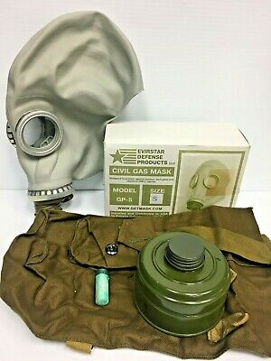 Russian Gas Mask Gp-5 Small New In Box Halloween Nuke