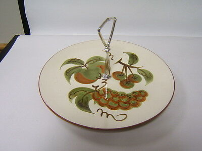 Stangl Pottery Orchard Song relish tray with handle VGC