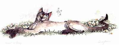 Whimsical Cat Ltd ED Print Signed by E.Groves