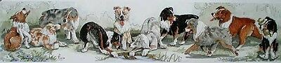 Australian Shepherd Ltd ED Dog Print E.Groves