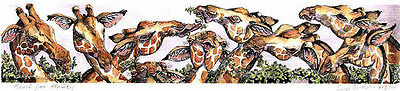 Limited Edition GIRAFFE Signed Print  by Enid Groves