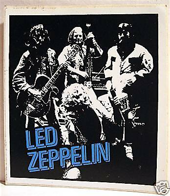 Led Zeppelin Group Rock Band Concert Sticker Old Stock