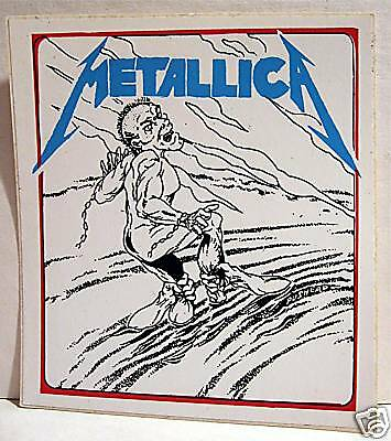 Metallica Rock Band Concert Sticker Old Store Stock