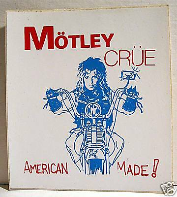 Motley Crue American Made Rock Band Concert Sticker Old