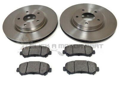 FOR NISSAN QASHQAI 1.5 1.6 2.0 DCi 2007-2011 FRONT 2 BRAKE DISCS & PADS SET NEW