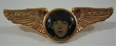 Vintage Beatles Paul McCartney Winged Pin / Old Stock