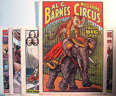 1960 Circus World Museum Poster Set Old Store Stock
