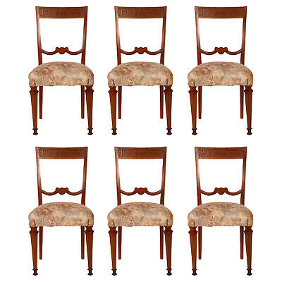 Set 6 Sedie Carved Chairs Empire Impero Intagliate '900 Six Chairs - Ma M84
