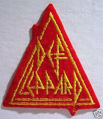 Def Leppard Triangle Rock Concert Band Patch Old Stock