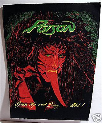 Poison Open Up Say Ah! Rock Concert Band Lg Back Patch