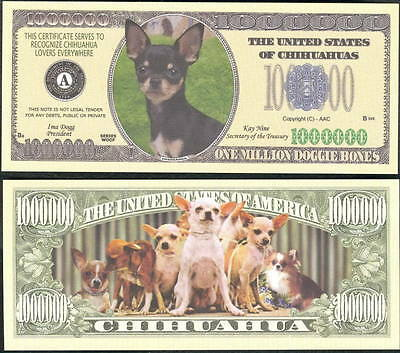 Lot Of 25 Bills - Chihuahua Dog Million Dollar Money