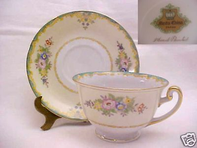 """MEITO CHINA PATTERN #MEI68 CUP AND SAUCER SET 2 3/8"""""""