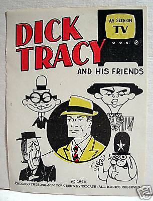Dick Tracy 1966 Gumball Vending Machine Sign Old Stock