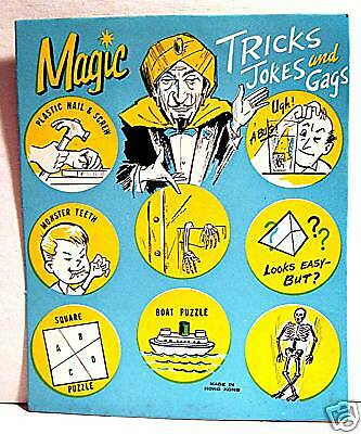 Magic Tricks Gumball Vending Machine Card Old Stock