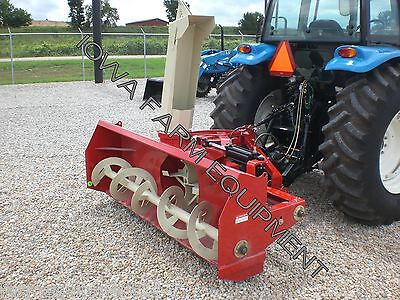 "RED Farm King Y840G 84"" Tractor PTO SnowBlower:4BladeFan,SkidShoes:BESTBUY&BRAND"