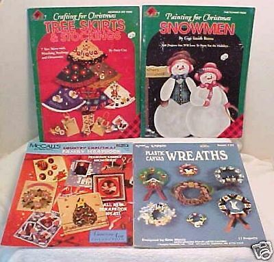 4 CHRISTMAS CRAFT BOOKS Decorating Patterns Holiday Xmas Project LOT