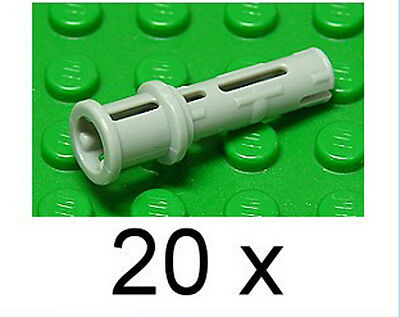 Lego Technic 20x Pin mit Stab Hell Grau Light Bluish Gray 61184 Neuware New